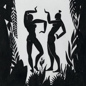 <p>Richard Bruce Nugent (American, 1906–1987). <i>Dancing Figures</i>, circa 1935. Black ink and graphite on cream wove paper, 14<sup>3</sup>⁄<sub>4</sub> x 10<sup>1</sup>⁄<sub>2</sub> in. (37.5 x 26.7 cm). Brooklyn Museum, Gift of Dr. Thomas H. Wirth, gift of Frederick J. Adler, by exchange, bequest of Richard J. Kempe, by exchange, and gift of Abraham Walkowitz, by exchange, 2008.50.6. © Thomas H. Wirth</p>