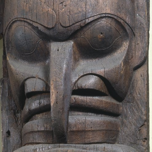 <p>Heiltsuk artist. <i>House Post</i>, from a Set of Four, 19th century. Wáglísla, British Columbia, Canada. Cedar, 98 x 35<sup>1</sup>⁄<sub>4</sub> x 17<sup>1</sup>⁄<sub>2</sub> in. (248.9 x 89.5 x 44.5 cm). Brooklyn Museum, Museum Expedition 1911, Museum Collection Fund, 11.700.1</p>