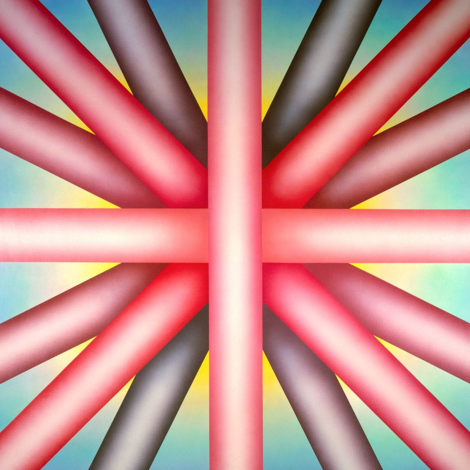 <p>Judy Chicago (American, b. 1939). <i>Heaven is for White Men Only</i>, 1973. Sprayed acrylic on canvas, 80 x 80 in. (203.2 x 203.2 cm). New Orleans Museum of Art, Gift of the Frederick R. Weisman Art Foundation, 93.12. © Judy Chicago. Photo: © Donald Woodman</p>