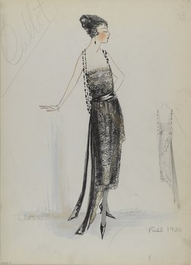 Brooklyn Museum: Fashion and Costume Sketch Collection, 1912-1950.