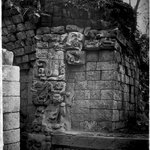 Copan. West Side of Doorway Leading to the Inner Chamber of Temple.