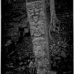 Copan. Stela P, West Face.