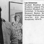 Brooklyn Museum Art School faculty. Lee Ackerman, ca 1979.