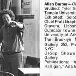 Brooklyn Museum Art School faculty. Allen Barber, ca. 1979.