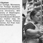 Brooklyn Museum Art School faculty. Jacqueline Ann Clipsham, ca. 1979.