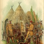 George Catlin, Letters and notes on the manners, customs, and conditions of the North American Indians, 1876. Catlin painting a Chief.