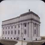Brooklyn Museum: exterior. View of the completed West Wing from the northwest, showing north and west facades, 1898.