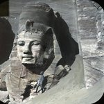 Views, Objects: Egypt. Abu Simbel. View 02: Egypt. Abu Simbel. Colossus No. 4. 19 Dyn?