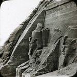 Views, Objects: Egypt. Abu Simbel. View 03: Façade du grand temple d'Abou-Simbel. Nubie.