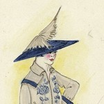 Henri Bendel Fashion and Costume Sketch Collection. Sketch HB 25-04, 1917.