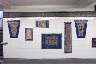 Subway Station: Architectural Ornaments (long-term installation)., April 2004 (Image: .  photograph, )