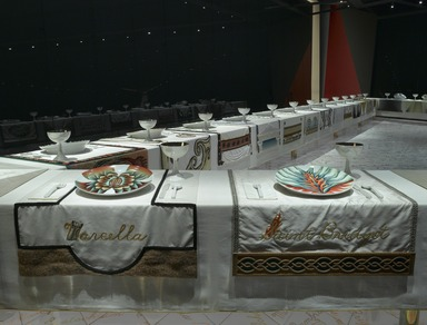 The Dinner Party by Judy Chicago (installation), March 23, 2007 (Image: .  photograph, )