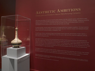 Aesthetic Ambitions: Edward Lycett and Brooklyn's Faience Manufacturing Company, May 3, 2012 through June 16, 2013 (Image: .  photograph, )