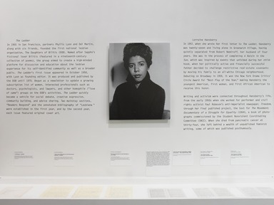 Twice Militant: Lorraine Hansberry's Letters to 'The Ladder', November 22, 2013 through March 16, 2014 (Image: .  photograph, )