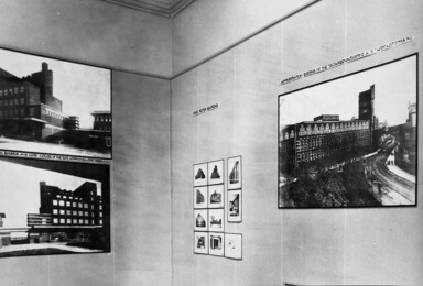 Plans & Models of Projects by Prof. Behrens & His Pupils at the Master School of Architecture of the Fine Arts Academy of Vienna, April 21, 1930 through June 1, 1930 (Image: .  photograph, )