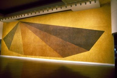 Pyramid, a Wall Drawing by Sol LeWitt, May 16, 1985 through September 2, 1985 (Image: .  photograph, )