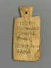Mummy Tag with Greek Inscription