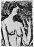 Half-Length Nude with Flower (Halbakt mit Bl&Atilde;&frac14;te)