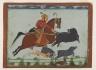 Maharaja Pratap Singh II of Mewar Hunting Boar