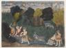 Balarama Kills the Ass Demon, Page from a Dispersed Bhagavata Purana Series