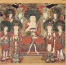 Amit'a (Amitabha) with Six Bodhisattvas and Two Arhats