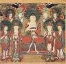 Amit'a (Amitabha) with Six Bodhisattvas and Two Arhats
