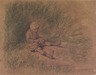 Girl Seated in the Grass (Petite fille assise)