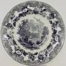 Plate, European Scenery Pattern