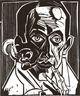 Brooklyn Museum: Self-Portrait with Pipe (Selbstbildnis mit Pfeife)