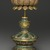 Buddhist Ritual Object in Form of a Canopy on Lotus Base, 1736-1795. Cloisonne enamel on copper alloy, overall: 15 x 4 3/4 in. (38.1 x 12.1 cm). Brooklyn Museum, Gift of Samuel P. Avery, Jr., 09.662. Creative Commons-BY (Photo: Brooklyn Museum, 09.662_detail2_PS2.jpg)