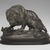 Antoine-Louis Barye (French, 1795-1875). Lion Crushing a Snake. Bronze, With base: 10 1/2 x 8 x 13 1/2 in. (26.7 x 20.3 x 34.3 cm). Brooklyn Museum, Purchased by Special Subscription, 10.178. Creative Commons-BY (Photo: Brooklyn Museum, 10.178_front_PS2.jpg)