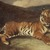 Antoine-Louis Barye (French, 1795-1875). Tiger Reclining (Tigre couché), n.d. Watercolor on thin cream-colored wove paper mounted on thick pulpboard, Sheet: 12 9/16 x 19 15/16 in. (31.9 x 50.6 cm). Brooklyn Museum, Purchased by Special Subscription, 10.99 (Photo: Brooklyn Museum, 10.99.jpg)