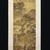Tang Yin (Chinese, 1470-1523). Landscape, last quarter 15th-first quarter 16th century. Ink and color on paper, Overall: 77 x 20 1/2 in. (195.6 x 52.1 cm). Brooklyn Museum, Gift of C.C. Wang & Family Collection, 1991.237.3 (Photo: Brooklyn Museum, 1991.237.3_IMLS_SL2.jpg)