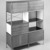 Charles Eames (American, 1907-1978). Storage Unit, 1948-1954. Birch plywood, masonite, black plastic laminate veneer, chrome-plated steel, white metal, rubber, Overall:  58 1/2 x 46 7/8 x 16 7/8 in. (148.6 x 119.0 x 42.9 cm). Brooklyn Museum, Marie Bernice Bitzer Fund, 1992.7. Creative Commons-BY (Photo: Brooklyn Museum, 1992.7_bw.jpg)
