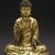 Seated Buddha Shakyamuni, 965 or 1025. Gilt bronze, 8 1/2 x 7 1/4 x 4 3/4 in. (21.6 x 18.4 x 12.1 cm). Brooklyn Museum, Gift of the Asian Art Council in memory of Mahmood T. Diba and Mary Smith Dorward Fund, 1999.42. Creative Commons-BY (Photo: Brooklyn Museum, 1999.42_SL1.jpg)