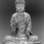 Seated Buddha Shakyamuni, 965 or 1025. Gilt bronze, 8 1/2 x 7 1/4 x 4 3/4 in. (21.6 x 18.4 x 12.1 cm). Brooklyn Museum, Gift of the Asian Art Council in memory of Mahmood T. Diba and Mary Smith Dorward Fund, 1999.42. Creative Commons-BY (Photo: Brooklyn Museum, 1999.42_bw_Design_scan.jpg)