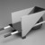 Gerrit Th. Rietveld (Dutch, 1888-1964). Child's Wheelbarrow, designed 1923; made 1958. Wood. pigment, metal, 13 x 26 x 10 1/2 in. (33 x 66 x 26.7 cm). Brooklyn Museum, Marie Bernice Bitzer Fund, 2001.87. Creative Commons-BY (Photo: Brooklyn Museum, 2001.87_view2_bw.jpg)