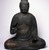 Figure of Seated Buddha, 794-1185. Wood, crystal, 34 1/2 x 29 1/2 x 21 1/2 in. (87.6 x 74.9 x 54.6 cm). Brooklyn Museum, The Peggy N. and Roger G. Gerry Collection, 2004.28.207. Creative Commons-BY (Photo: Brooklyn Museum, 2004.28.207_front.jpg)