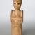 Sargent Claude Johnson (American, 1888-1967). Untitled (Standing Woman), ca. 1933-1935. Terra cotta, painted pale tan, 14 1/4 x 4 x 3 1/2 in. (36.2 x 10.2 x 8.9 cm). Brooklyn Museum, Gift of the Estate of Emil Fuchs and Mr. and Mrs. Sidney Steinhauer, by exchange, Robert B. Woodward Memorial Fund, and Mary Smith Dorward Fund, 2010.2 (Photo: Brooklyn Museum, 2010.2_threequarter_PS6.jpg)