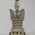 Reliquary in the Shape of a Stupa, 986 A.D. Silver, height: 14 in. (35.6 cm). Brooklyn Museum, Gift of Mrs. Walter N. Rothschild and anonymous gift, by exchange