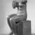 Jane Poupelet (French, 1878-1932). Figure of a Seated Woman, 20th century. Bronze, 22 13/16 x 10 1/16 x 12 3/16 in. (58 x 25.5 x 31 cm). Brooklyn Museum, Ella C. Woodward Memorial Fund, 21.245. Creative Commons-BY (Photo: Brooklyn Museum, 21.245_threequarter_left_front_acetate_bw.jpg)