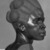 Malvina Hoffman (American, 1885-1966). Martinique Woman, 1928. Black metamorphic stone, 22 x 14 1/4 x 15 1/4 in., 158 lb. (55.9 x 36.2 x 38.7 cm, 71.67kg). Brooklyn Museum, Dick S. Ramsay Fund, 28.384. © Estate of Malvina Hoffman (Photo: Brooklyn Museum, 28.384_threequarterfront_acetate_bw.jpg)