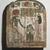 Grave Stela of Thenet, ca. 945-712 B.C.E. Wood, painted, 10 1/8 x 8 1/4 in. (25.7 x 21 cm). Brooklyn Museum, Charles Edwin Wilbour Fund, 37.1385E. Creative Commons-BY (Photo: Brooklyn Museum, 37.1385E.jpg)