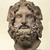 Roman. Head of Serapis, 75-150 C.E. Marble, 10 3/8 x 7 3/8 x 6 7/8 in. (26.4 x 18.7 x 17.5 cm). Brooklyn Museum, Charles Edwin Wilbour Fund, 37.1522E. Creative Commons-BY (Photo: Brooklyn Museum, 37.1522E_SL1.jpg)