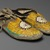 Sioux (Native American). Pair of Moccasins, ca. 1882. Hide, porcupine twill, 10 7/16 x 3 15/16 in. (26.5 x 10 cm). Brooklyn Museum, Anonymous gift in memory of Dr. Harlow Brooks, 43.201.66a-b. Creative Commons-BY (Photo: Brooklyn Museum, 43.201.66a-b_view2_PS2.jpg)