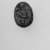 Scarab of Amenhotep I. Steatite, glazed, 7/16 x 11/16 in. (1.1 x 1.8 cm). Brooklyn Museum, Charles Edwin Wilbour Fund, 44.123.142. Creative Commons-BY (Photo: Brooklyn Museum, 44.123.142_bw.jpg)