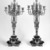 Candelabra, ca. 1870. Bronze, black marble, 26 1/2 x 11 1/2 x 11 3/4 in.  (67.3 x 29.2 x 29.8 cm). Brooklyn Museum, Anonymous gift, 64.241.106. Creative Commons-BY (Photo: Brooklyn Museum, 64.241.106_bw.jpg)
