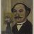 Henri-Julien-Félix Rousseau, called Le Douanier Rousseau (French, 1844-1910). Self-Portrait, ca. 1900-1903. Oil on canvas, 7 3/8 x 5 3/4 in.  (18.7 x 14.6 cm). Brooklyn Museum, Bequest of Laura L. Barnes, 67.24.14 (Photo: Brooklyn Museum, 67.24.14_PS9.jpg)