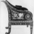 Armchair (Renaissance Revival style), ca. 1875. Ebony, various woods, ivory, mother-of-pearl, modern upholstery, 39 x 25 7/8 x 26 3/8 in. (99.1 x 65.7 x 67 cm). Brooklyn Museum, Gift of Mr. and Mrs. George N. Richard, 71.95. Creative Commons-BY (Photo: Brooklyn Museum, 71.95_side_Design_scan_bw.jpg)