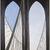 Georgia O'Keeffe (American, 1887-1986). Brooklyn Bridge, 1949. Oil on masonite, 47 15/16 x 35 7/8in. (121.8 x 91.1cm). Brooklyn Museum, Bequest of Mary Childs Draper, 77.11 (Photo: Brooklyn Museum, 77.11_large_SL1.jpg)